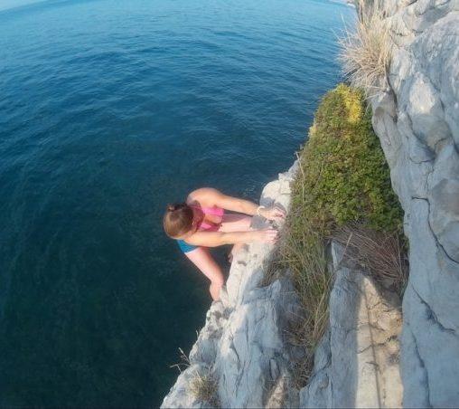Deep water solo
